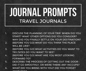 journal, questions, and travel image