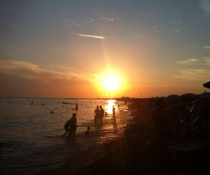 mare, spiaggia, and tramonto image