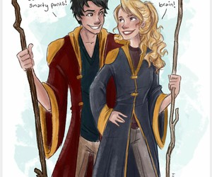 percy jackson, annabeth chase, and harry potter image