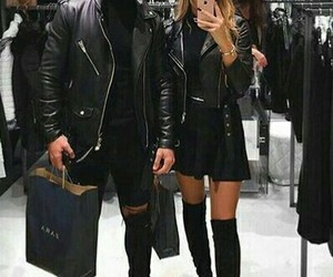 black, couple, and blonde image