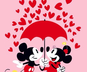 love, minnie, and disney image