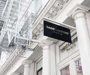 white, saint laurent, and luxury image