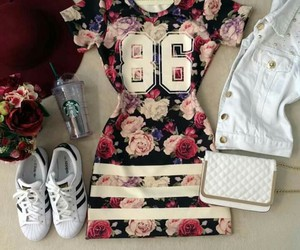 girls, adidas, and dress image