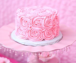 cake, pink, and sugar image