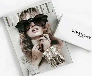 Givenchy, sunnies, and magazine image
