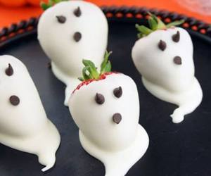 Halloween, ghost, and strawberry image