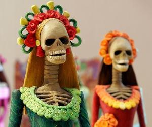 skull, day of the dead, and dia de los muertos image