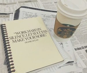 study, starbucks, and quotes image