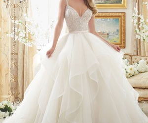 wedding, wedding dress, and bride image
