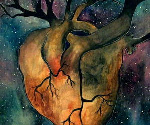 heart, tree, and art image