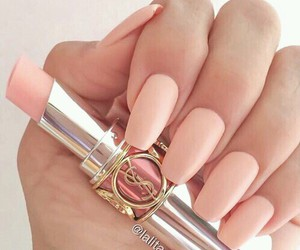 lipstick, nails, and pink image