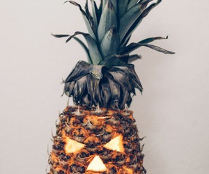 Halloween, pineapple, and pumpkin image
