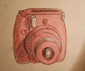 art, camera, and drawing image