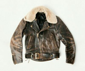 jacket, leather, and twd image