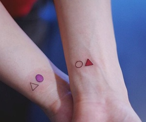 tattoo, triangle, and friends image
