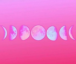 moon, pink, and wallpapers image
