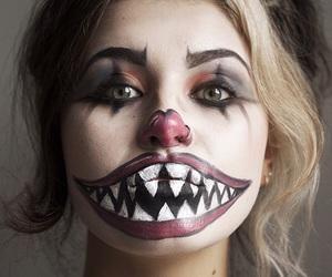 Halloween, clown, and makeup image