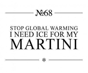 martini, quote, and ice image