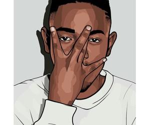 art, hiphop, and kendrick lamar image