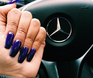 nails, blue, and mercedes image