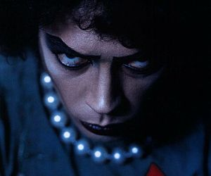 Tim Curry, lipstick, and pearls image