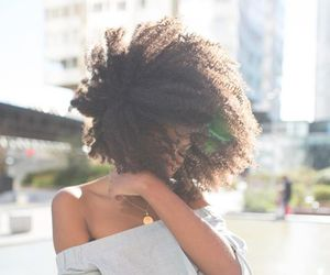 curls, natural hair, and afro hair image