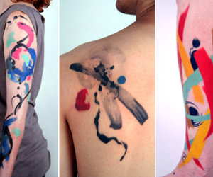 body art, cores, and tatoo image