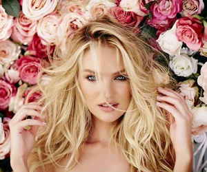 candice swanepoel, angel, and flowers image