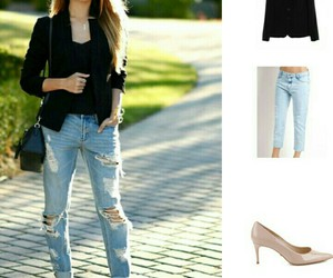 fashion, street style, and destroyed jeans image