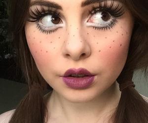 costume, doll, and eyelashes image