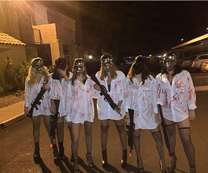 girls and Halloween image