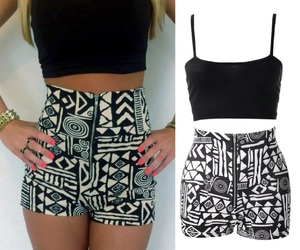 black, white, and zipper image