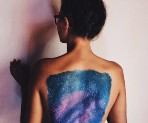 back, body paint, and camping image