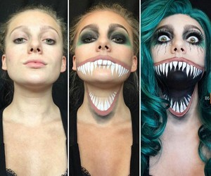 Halloween, horror, and makeup image