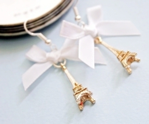 eiffel tower, paris, and earrings image