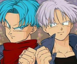 anime, dragon ball, and trunks image