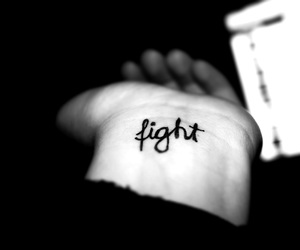 fight, tattoo, and white image