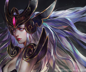 league of legends and syndra image