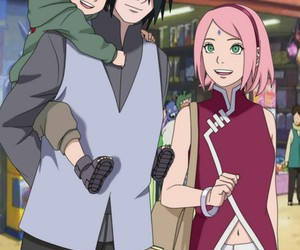 couple, sasuke uchiha, and family image