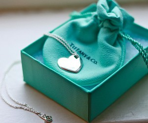 heart, necklace, and tiffany image