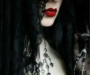 gothic, black, and lips image