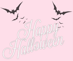 Halloween, bats, and pink image