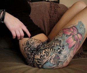 tattoo, sexy, and ink image