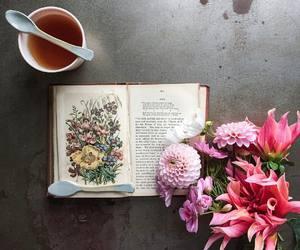 books, tea, and coffee image