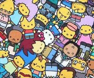 hello kitty and the simpsons image