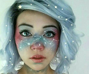 makeup, Halloween, and stars image