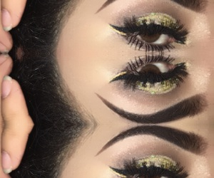 maquillaje, ojos, and cafes image