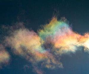 clouds, sky, and rainbow image