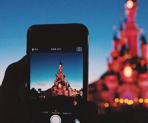 disney, disneyland, and iphone image