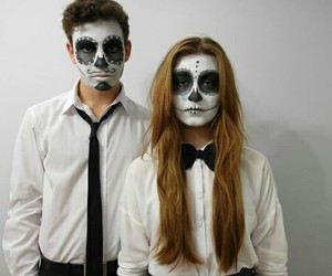 couple, alternative, and Halloween image